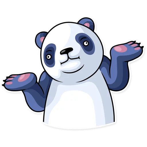 Fluffy Lazy Panda Stickers messages sticker-5
