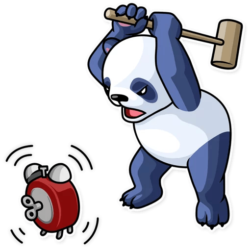 Fluffy Lazy Panda Stickers messages sticker-11