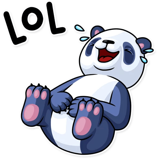 Fluffy Lazy Panda Stickers messages sticker-0