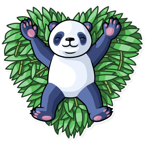 Fluffy Lazy Panda Stickers messages sticker-3