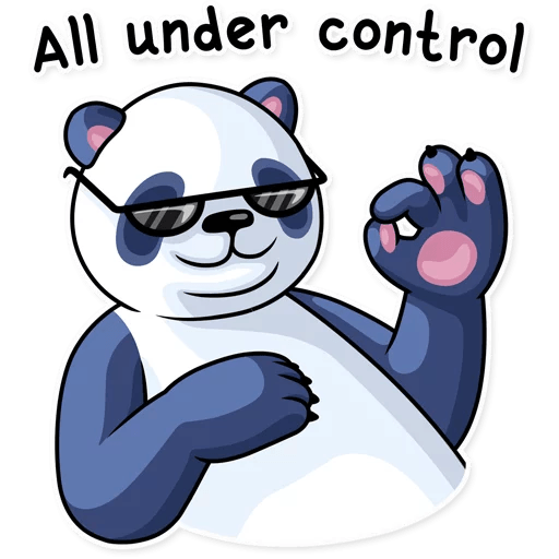 Fluffy Lazy Panda Stickers messages sticker-6