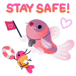 Happy tropical fish 2 messages sticker-10