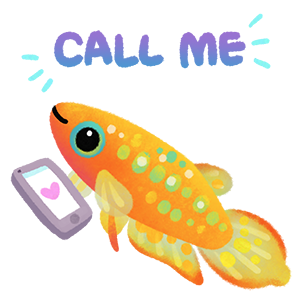 Happy tropical fish 2 messages sticker-9