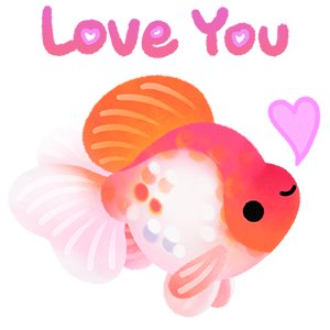 Happy tropical fish 2 messages sticker-2