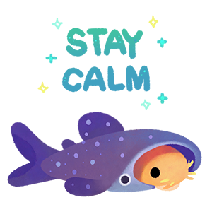 Happy tropical fish 2 messages sticker-11