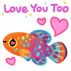 Happy tropical fish 2 messages sticker-7
