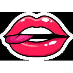 RedLips-mood messages sticker-11