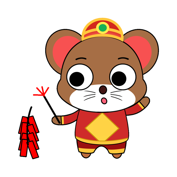 可爱俏皮鼠 messages sticker-3