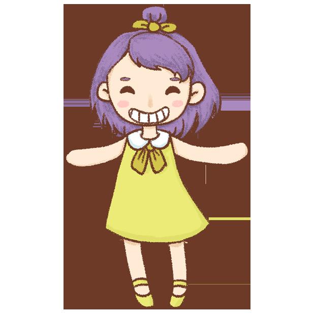 紫发丫吖 messages sticker-5