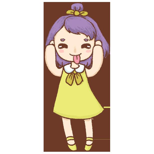 紫发丫吖 messages sticker-8