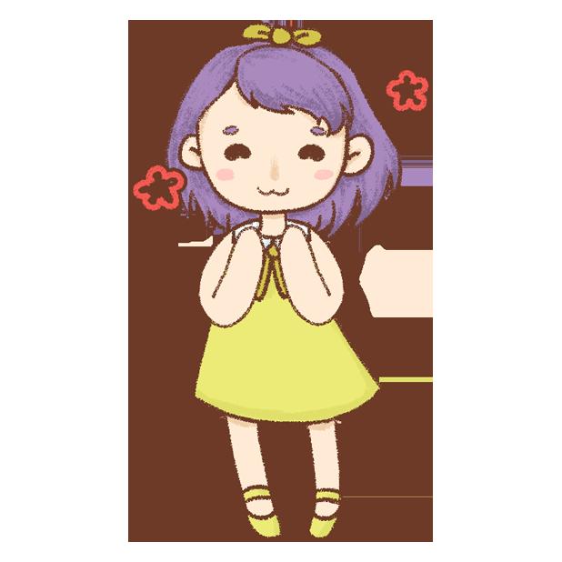 紫发丫吖 messages sticker-0