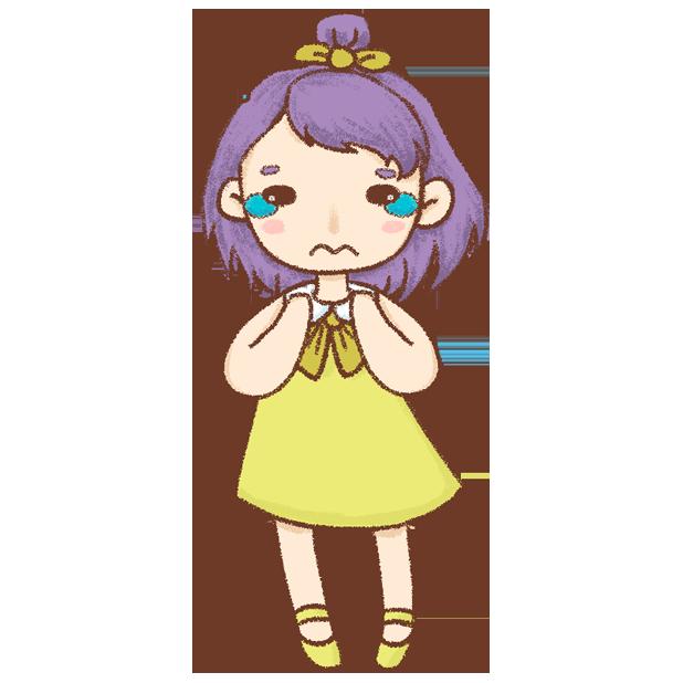 紫发丫吖 messages sticker-7