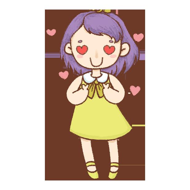 紫发丫吖 messages sticker-2