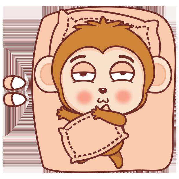 可爱黄猴子 messages sticker-9