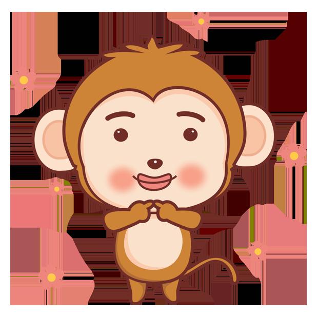 可爱黄猴子 messages sticker-11