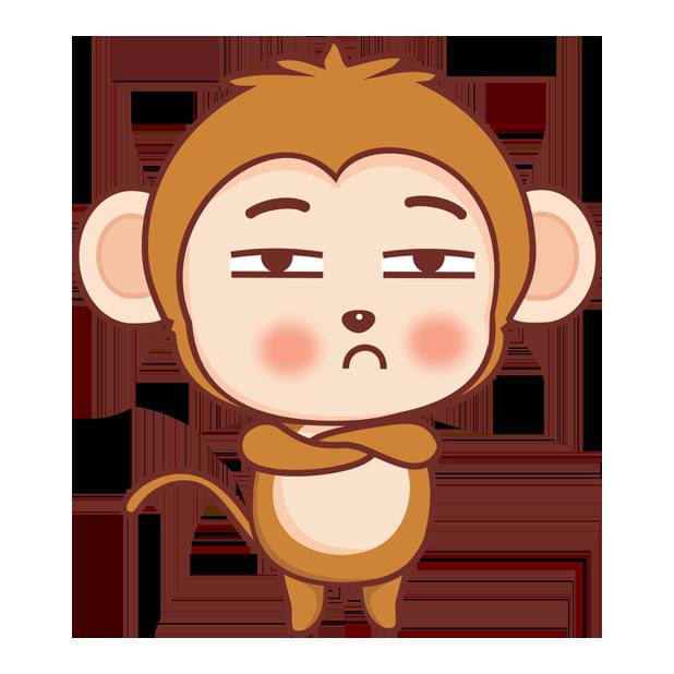 可爱黄猴子 messages sticker-1