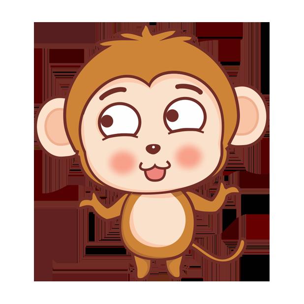 可爱黄猴子 messages sticker-2