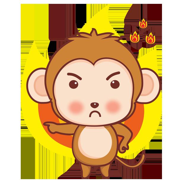 可爱黄猴子 messages sticker-10