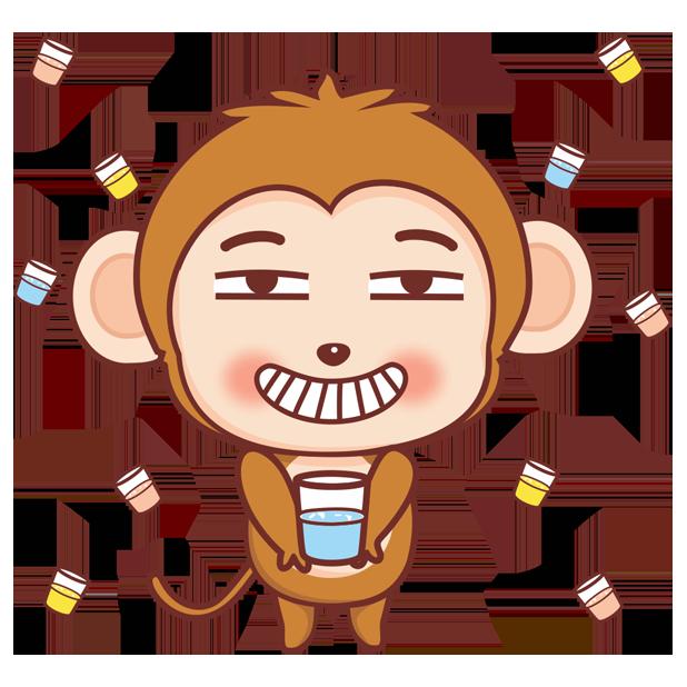 可爱黄猴子 messages sticker-0