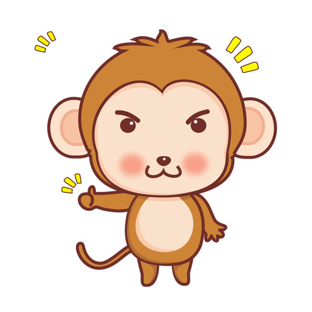 可爱黄猴子 messages sticker-3