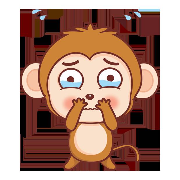 可爱黄猴子 messages sticker-5