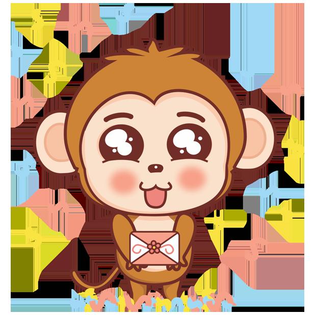 可爱黄猴子 messages sticker-8