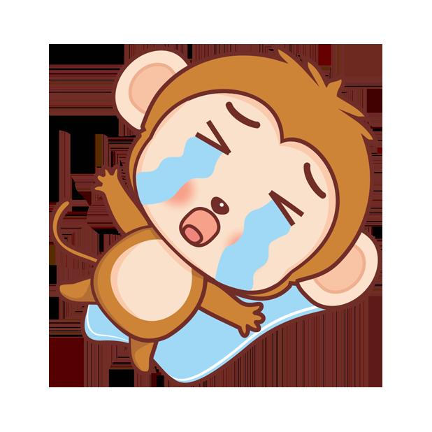 可爱黄猴子 messages sticker-7
