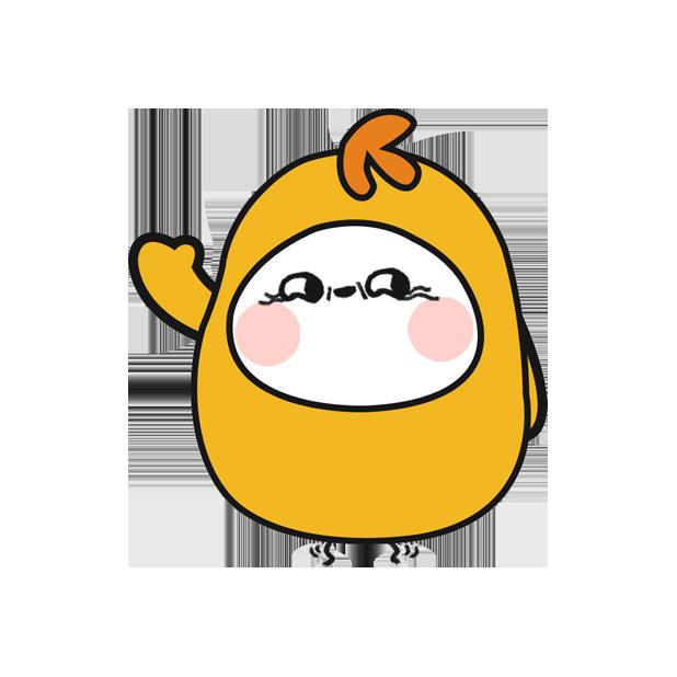鸡蛋黄 messages sticker-1