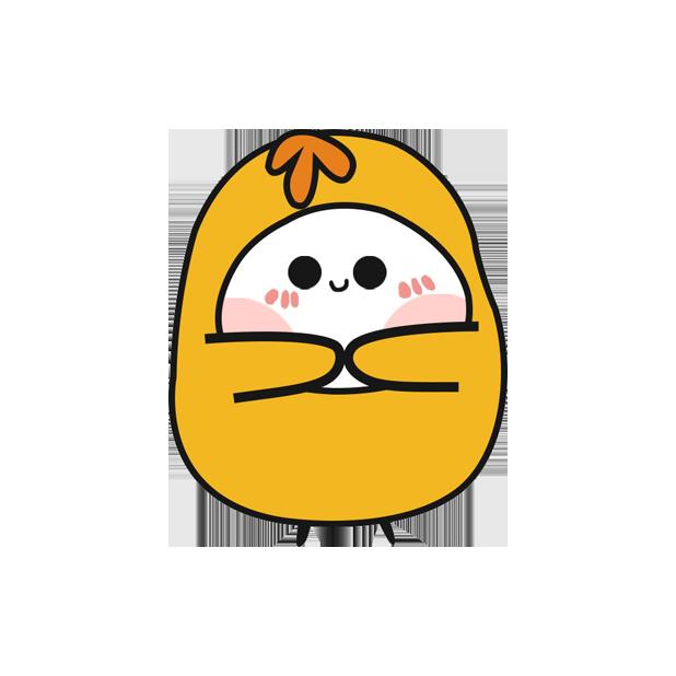 鸡蛋黄 messages sticker-7