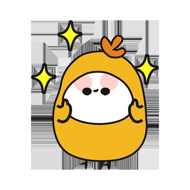 鸡蛋黄 messages sticker-9