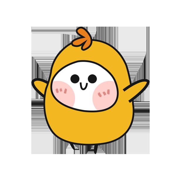鸡蛋黄 messages sticker-3