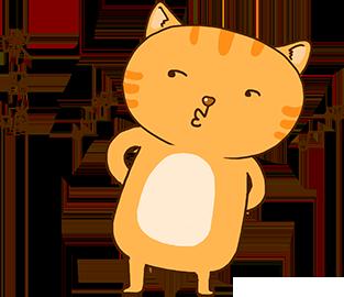 Cheoekyigmouthcat sticker messages sticker-1
