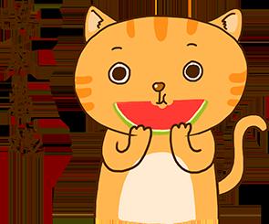 Cheoekyigmouthcat sticker messages sticker-5