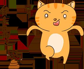 Cheoekyigmouthcat sticker messages sticker-11