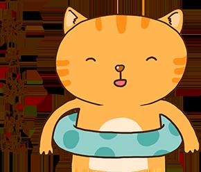 Cheoekyigmouthcat sticker messages sticker-4