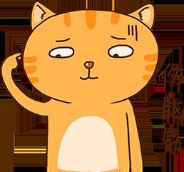 Cheoekyigmouthcat sticker messages sticker-2