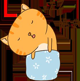 Cheoekyigmouthcat sticker messages sticker-8