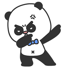 Arrogant Panda messages sticker-2
