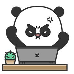 Arrogant Panda messages sticker-7