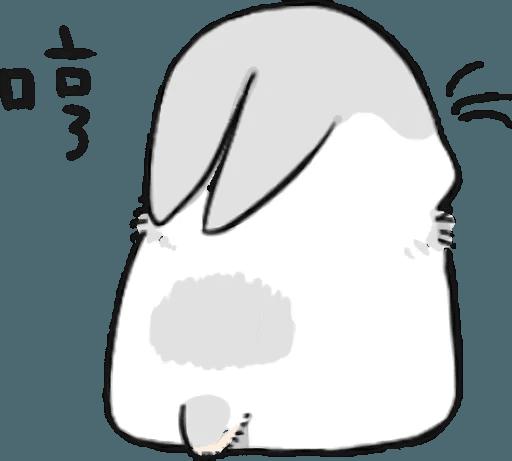 Machiko Rabbit Pack# 5 messages sticker-2