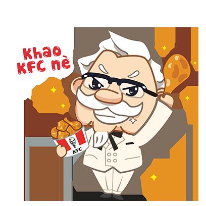 KFC Việt Nam Stickers 2020 messages sticker-10