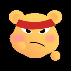可爱熊 messages sticker-2