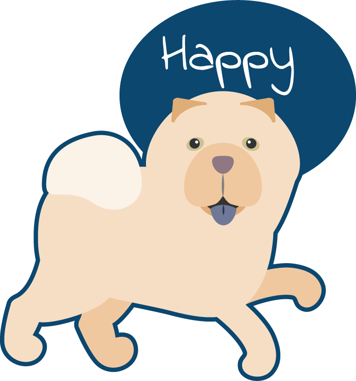 Peach the Chow Chow Stickers messages sticker-9