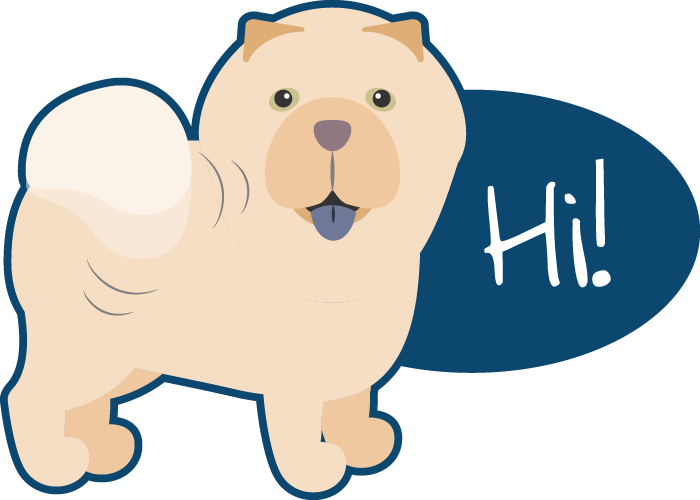 Peach the Chow Chow Stickers messages sticker-0