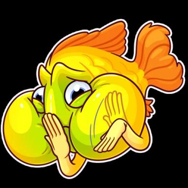 FunnyFish-Emoij messages sticker-9