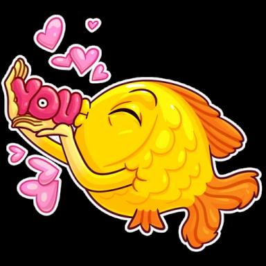 FunnyFish-Emoij messages sticker-3