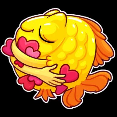 FunnyFish-Emoij messages sticker-8