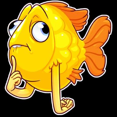 FunnyFish-Emoij messages sticker-10