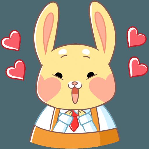 Fluffy Bun messages sticker-0