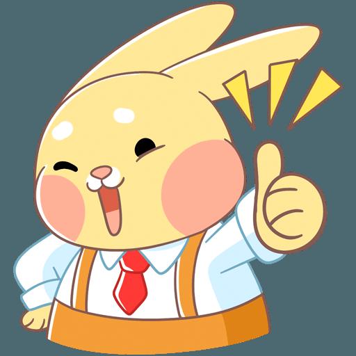 Fluffy Bun messages sticker-5